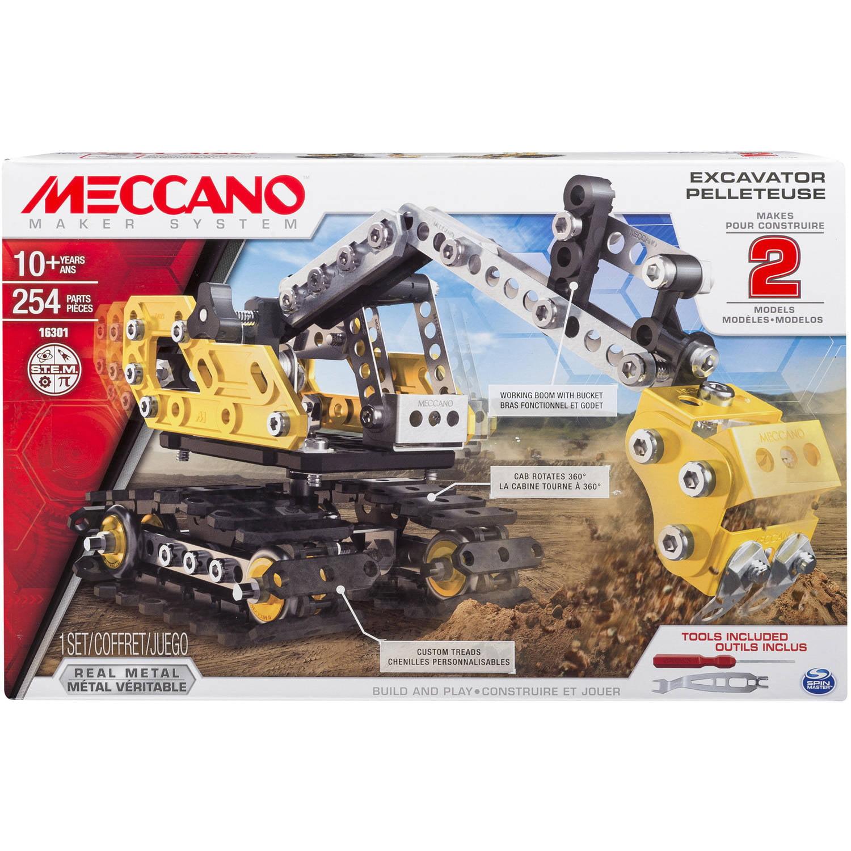 Meccano-Erector, 2-in-1 Model Set, Excavator and Bulldozer by Spin Master Ltd