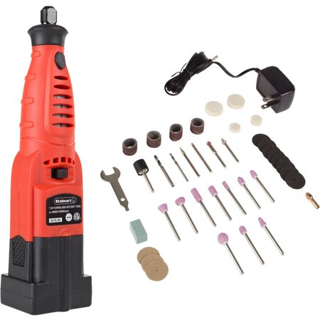 Cordless Rotary Tool and Accessories Kit – 40 Piece Multifunction Attachment Set for Engraving, Woodworking, Metalworking and Hobby by (Best Rotary Engraving Machine)