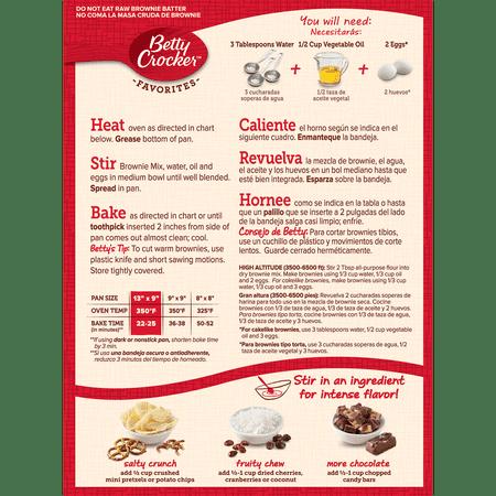 Betty Crocker Fudge Brownie Mix Family Size 183 Oz Walmart