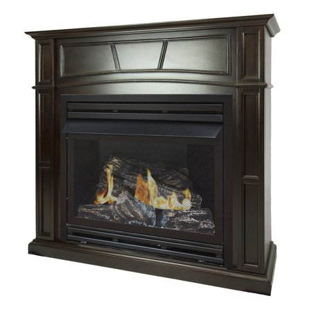 - Pleasant Hearth 46 in. Natural Gas Full Size Tobacco Vent Free Fireplace System 32,000 BTU