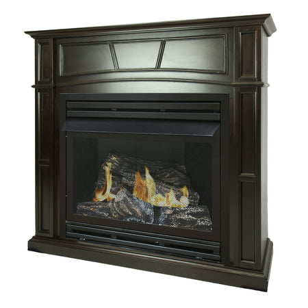 Pleasant Hearth 46 in. Natural Gas Full Size Tobacco Vent Free Fireplace System 32,000 BTU