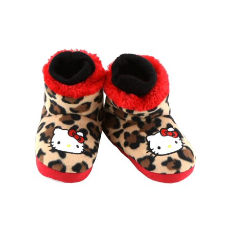 Hello Kitty Little Girls' Slipper Bootie with (Applique Baby Booties)
