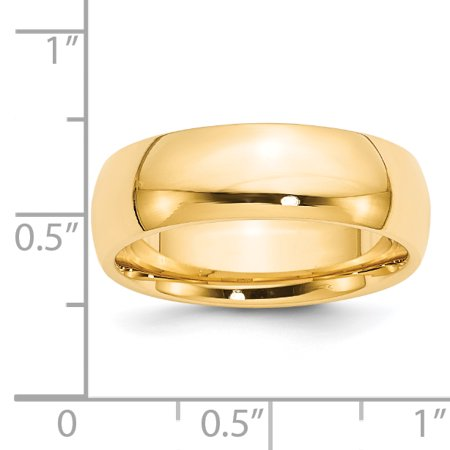 14k Yellow Gold 7mm Comfort Fit Wedding Ring Band Size 5.00 Classic Cf Style Mm B Width Fine Jewelry Gifts For Women For Her - image 3 de 7