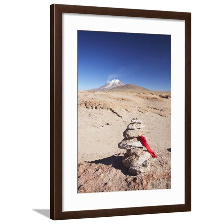 Stack of Prayer Stones on Altiplano, Potosi Department, Bolivia, South America Framed Print Wall Art By Ian (Homes For Sale In Bolivia South America)