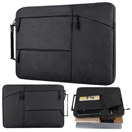 11-15 inch Premium Water Resistant Shockproof Laptop Briefcase Bag with Handle fit Acer Aspire E15, ASUS VivoBook, Toshiba, Dell Inspiron, Lenovo, MSI, HP Notebook Protective Carrying Case, Black (Toshiba 15 Inch Laptop Skin)