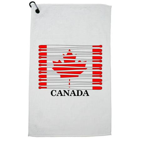Canada Baseball Classic - World Vintage Bats Flag Golf Towel with Carabiner Clip