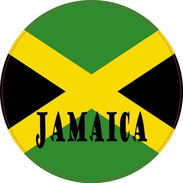 4x4 round labeled jamaica flag sticker vinyl vehicle decal travel stickers