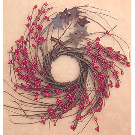 Pip & Star Wreath Red 10