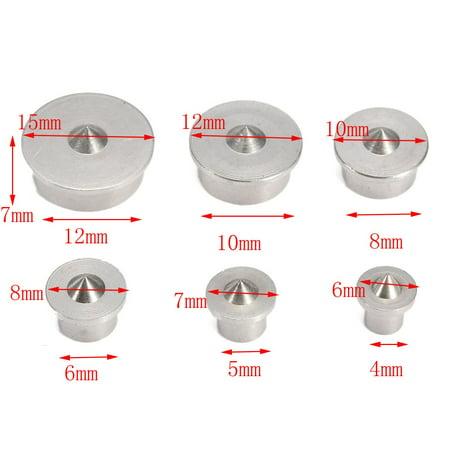 6PCS 4-12mmDowel Drill Centre Points Pin Wood 4mm 6mm 8mm 10mm 12mm Dowel Tenon Center Set - image 5 de 6