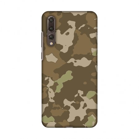 Huawei P20 Pro Case - Camou- Chocolate brown, Hard Plastic Back Cover, Slim Profile Cute Printed Designer Snap on Case with Screen Cleaning