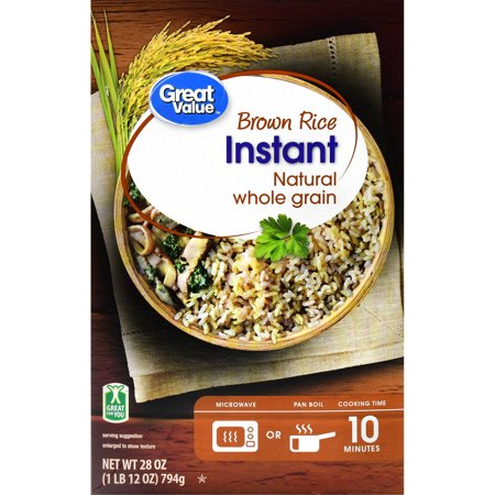 Great Value Instant Brown Rice, 28 oz - Walmart.com