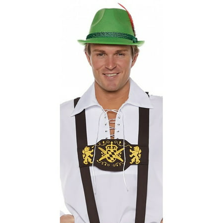 Lederhosen Suspenders Men's Adult Halloween Costume, One Size,