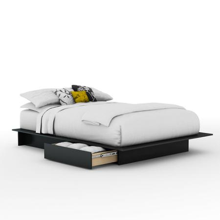 ireland queen faux leather bed black walmartcom - Leather Bed Frame