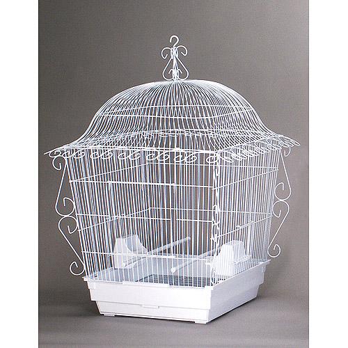 "Jumbo Tiel Scrollwork Bird Cage White, 18""x18""x25"" by Prevue Hendryx"