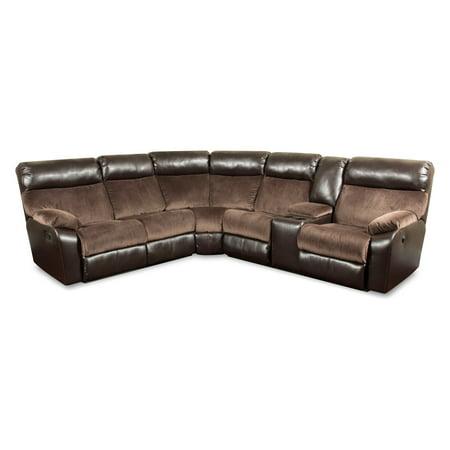 Simmons Upholstery Manhattan Beautyrest Motion Sectional Sofa