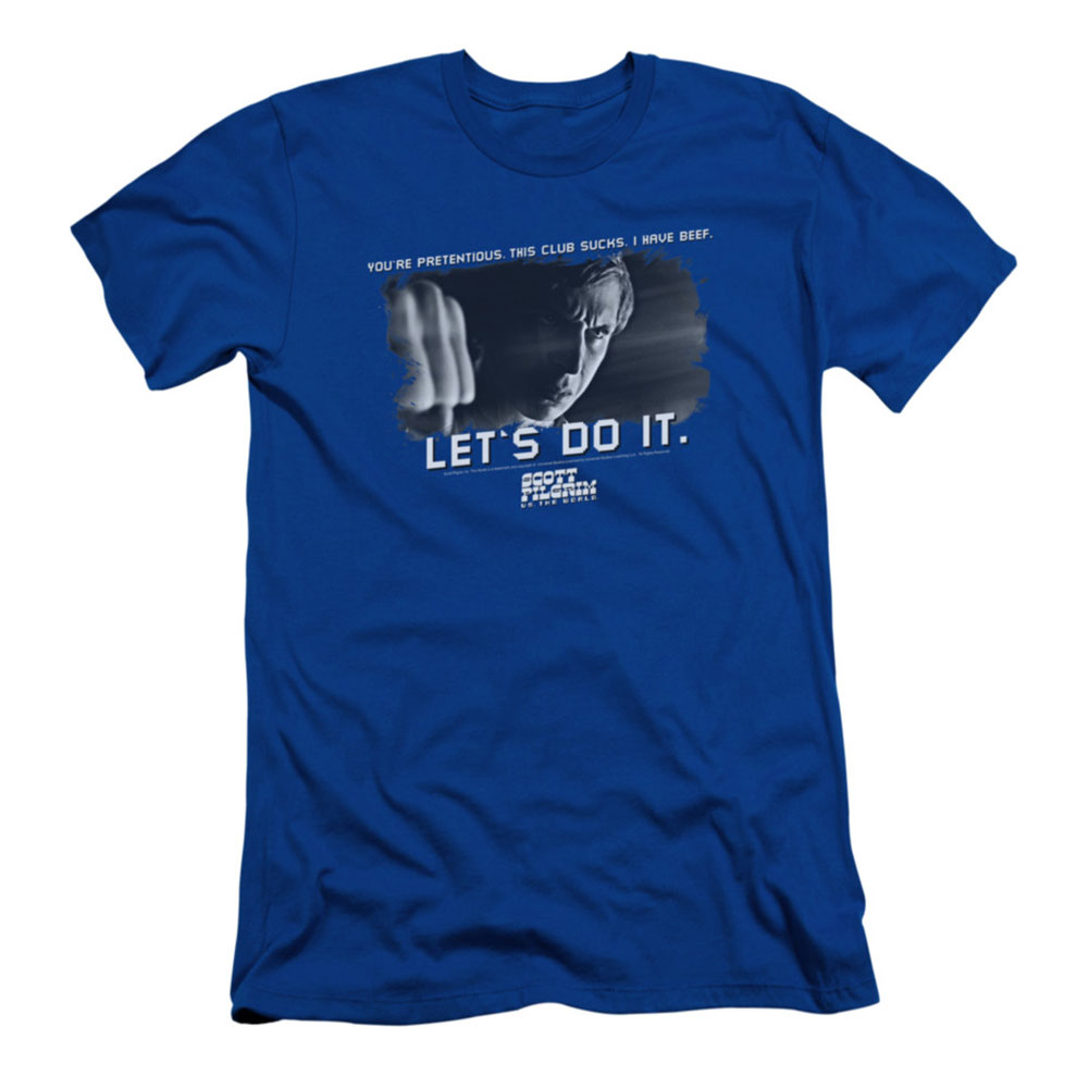 Scott Pilgrim Men's  Beef Slim Fit T-shirt Royal
