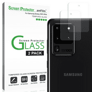 amFilm Samsung Galaxy S20 Ultra Back Camera Lens Tempered Glass Screen Protector (2 Pack)