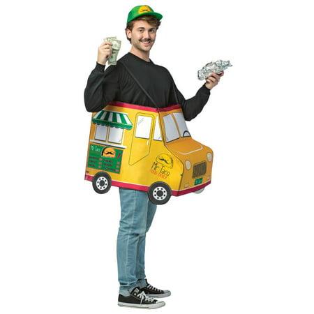 Garbage Truck Halloween Costume (Yellow and Green Mr Taco Food Truck Halloween Men Costume - One)