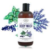 100% Natural Vegan Liquid Bath Soap, pH Balanced Body Wash for Sensitive Skin | Naturals Non Toxic Shower Gel for Men Women | Aloe, Spearmint, Lavender, Manuka …