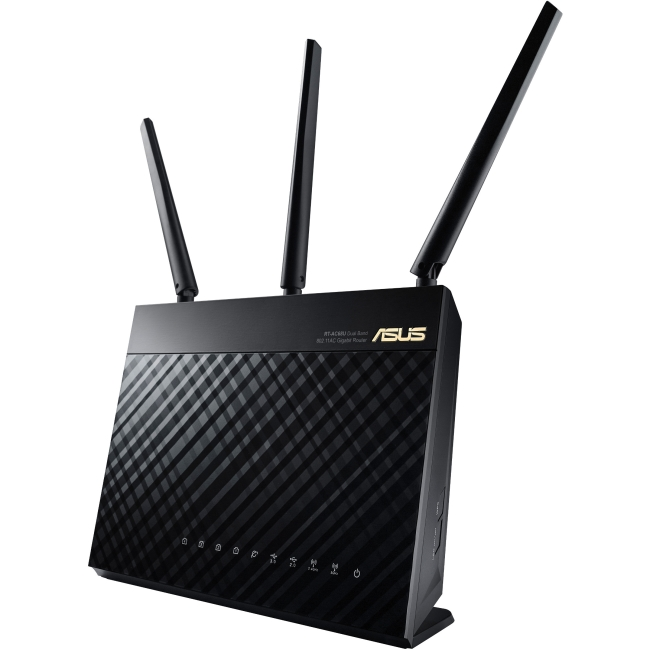Asus RT-AC68U IEEE 802.11ac Ethernet Wireless Router 2.40 GHz ISM Band 5 GHz UNII Band 1900 Mbit s Wireless Speed 4 x... by ASUS