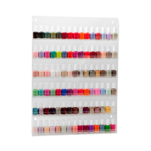 Salon Supply Store Large Acrylic Nail Polish Countertop 90 Bottle Display Shelf, CLEAR, 600