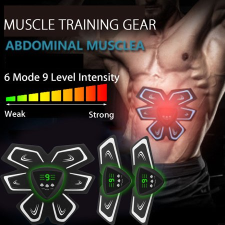 Core Management Training (USB Rechargeable LCD Display ABS Stimulator, Abdominal Muscle Trainer Smart Body Building Fitness Ab Core Toners Work)