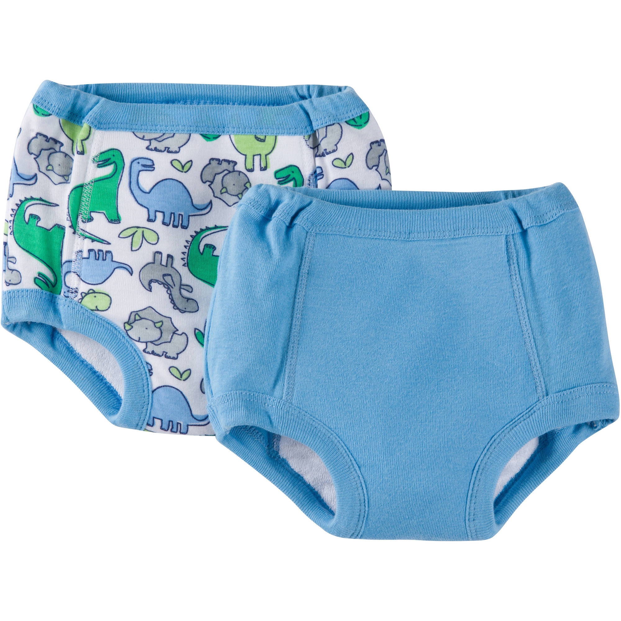 Gerber Baby Toddler Boys Dino 100% Cotton Training Pants with Peva Lining, 2-Pack Ages 2-3T
