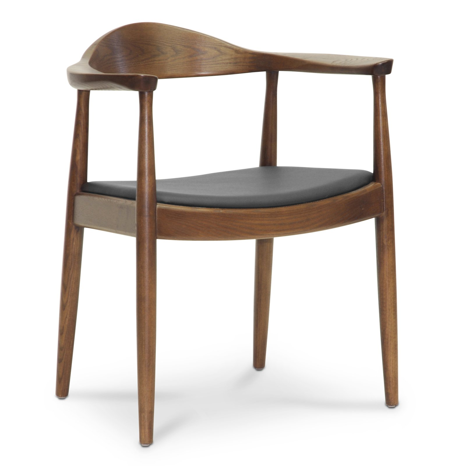 Baxton Studio Embick Dining Arm Chair - Dark Brown