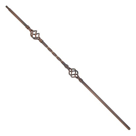 ALEKO Oil Rubbed Bronze Baluster - 44-Inch - Double Basket Design - Pack of