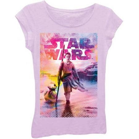 Girls' Star Wars Rey and BB-8 T-Shirt (Best Star Wars Gifts For Kids)