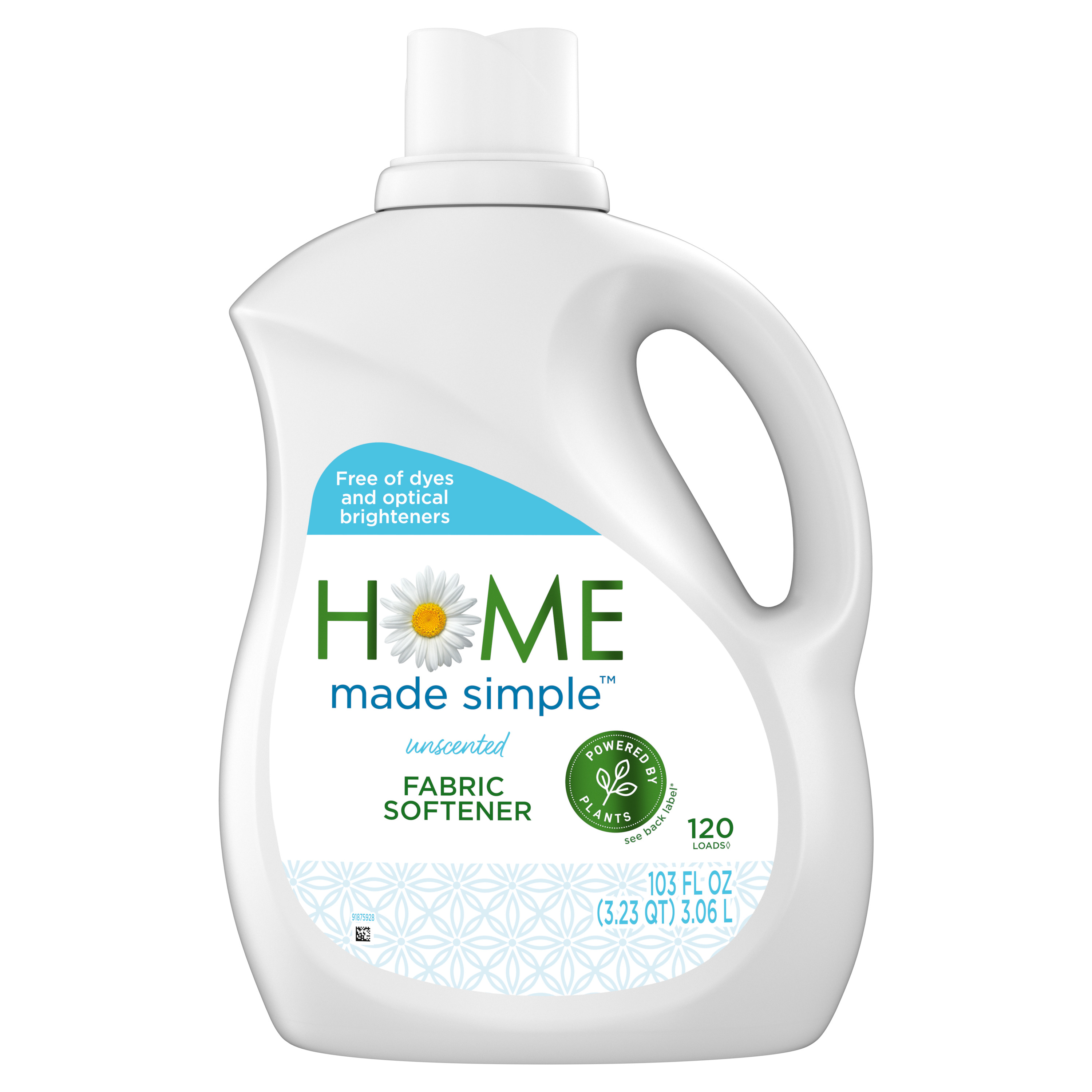 Home Made Simple Fabric Softener, 120 loads, Unscented, 103 fl oz