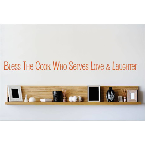 Design With Vinyl Bless the Cook Who Serves Love Laughter Wall Decal