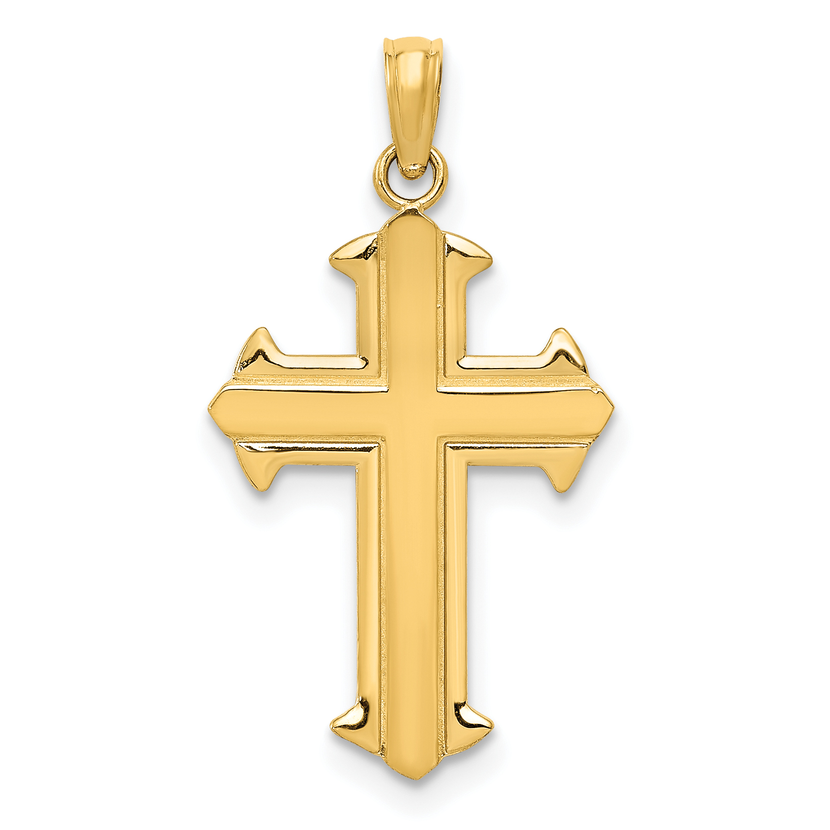 14k Yellow Gold Passion Cross Religious Pendant Charm Necklace Fine Jewelry Gifts For Women For Her - image 2 de 2