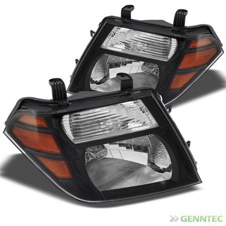 For 2008-2012 Pathfinder Blk Headlights Front Lamps Replacement  Pair Left+Right/2009 2010 2011