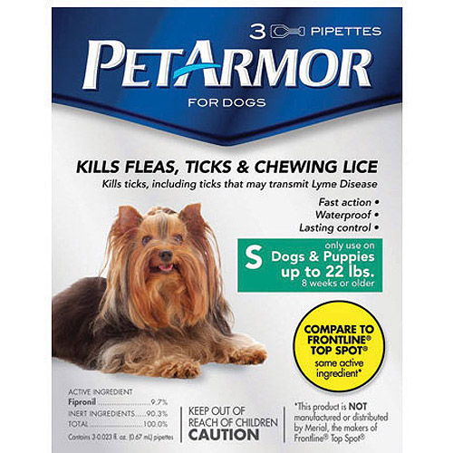 PetArmor Flea & Tick Protection for Dogs up to 22 lbs, 3-month Supply