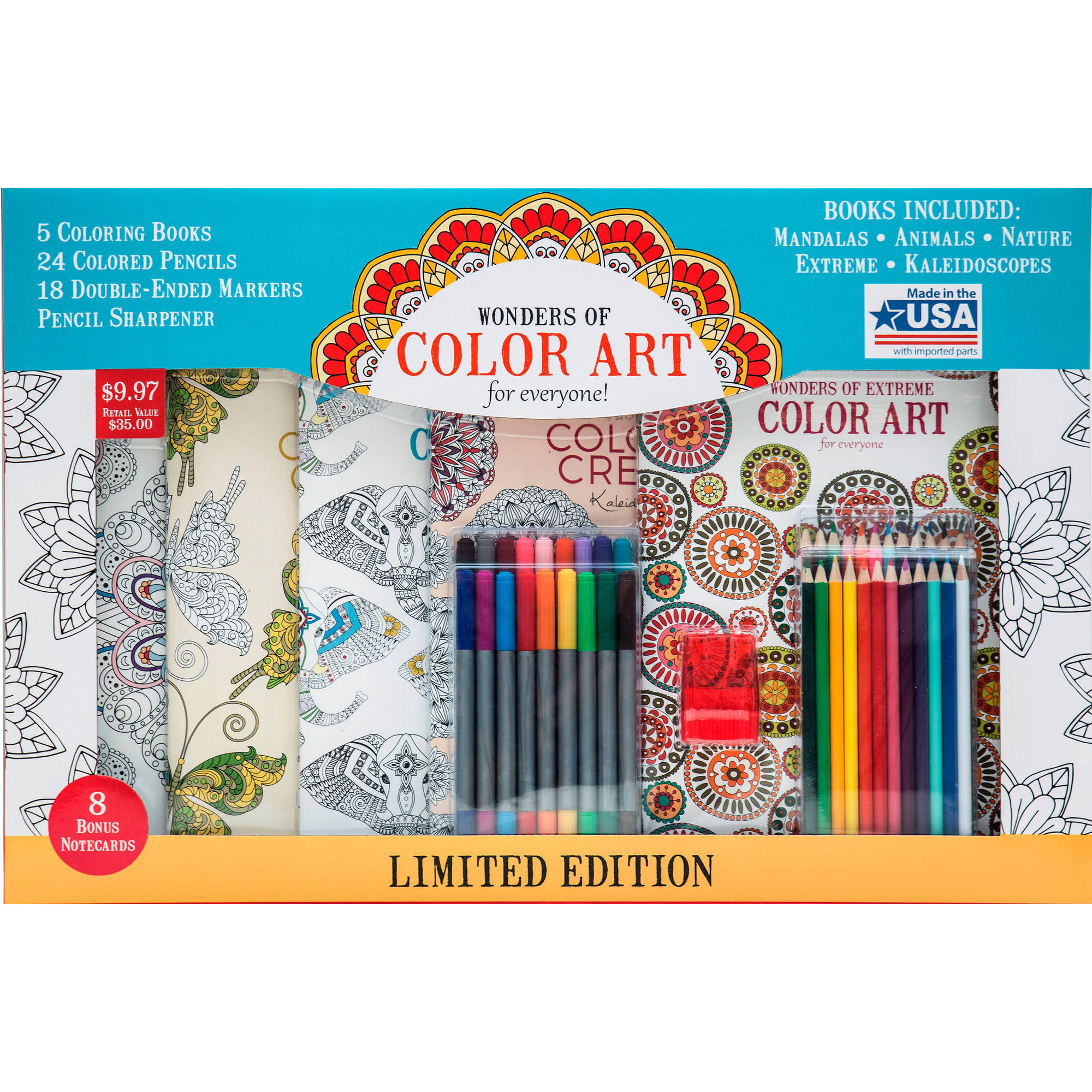 Leisure Arts Wonders of Color Art for Everyone Coloring Book Kit 31