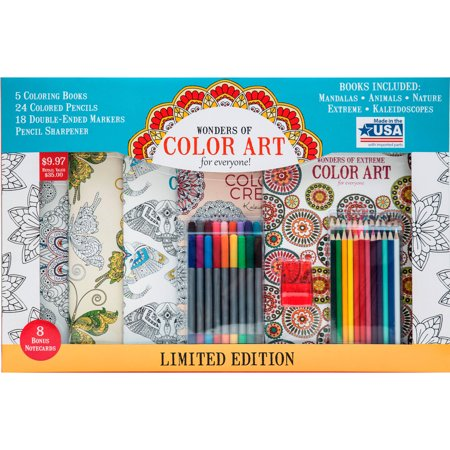 leisure arts wonders of color art for everyone coloring book kit 31 value - Walmart Coloring Books