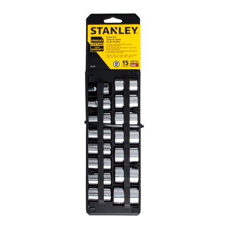 STANLEY 94-547 15-Piece Socket Set, SAE