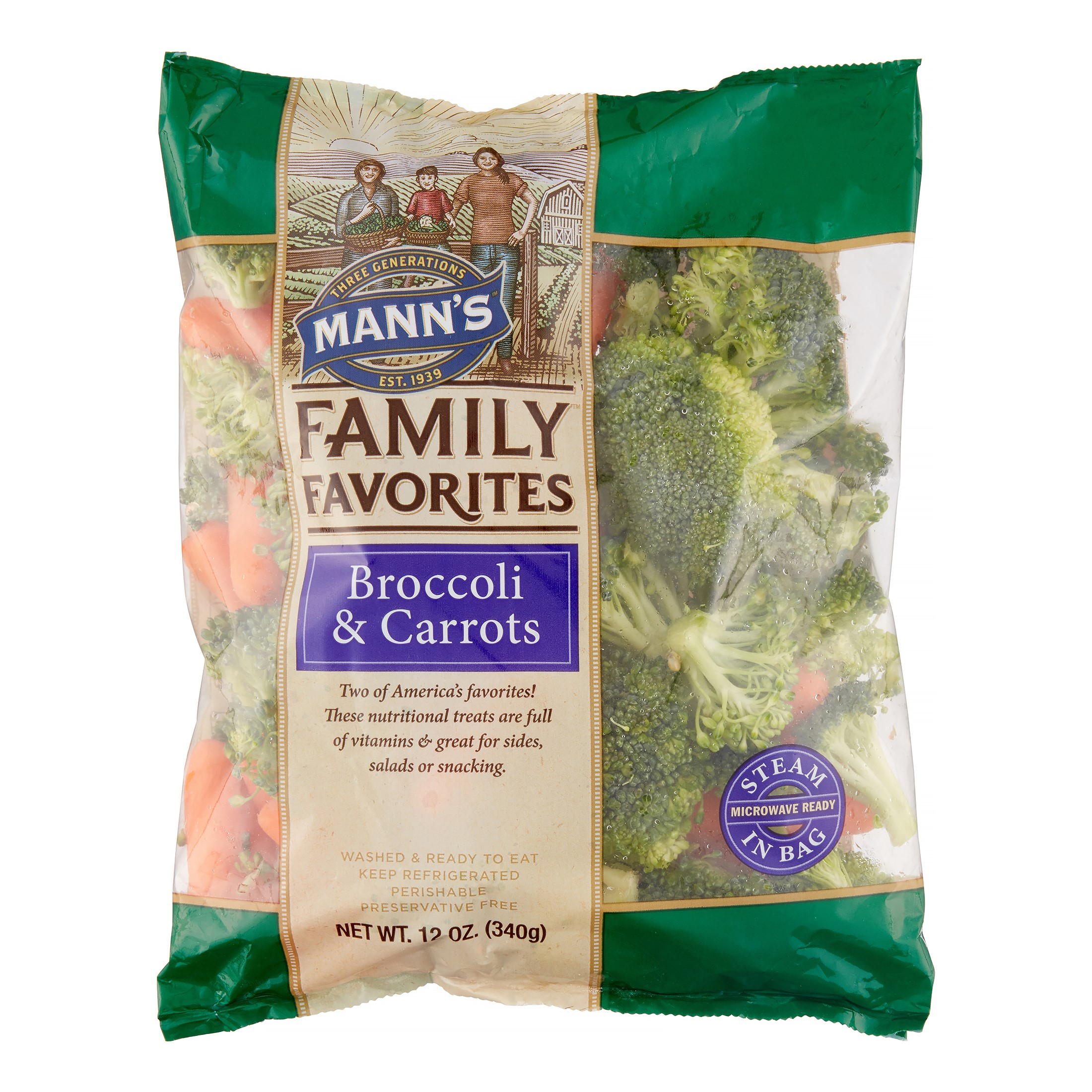 Manns Packing Manns Sunny Shores Broccoli & Carrots, 12 oz