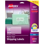 Avery Clear Shipping Labels, 2