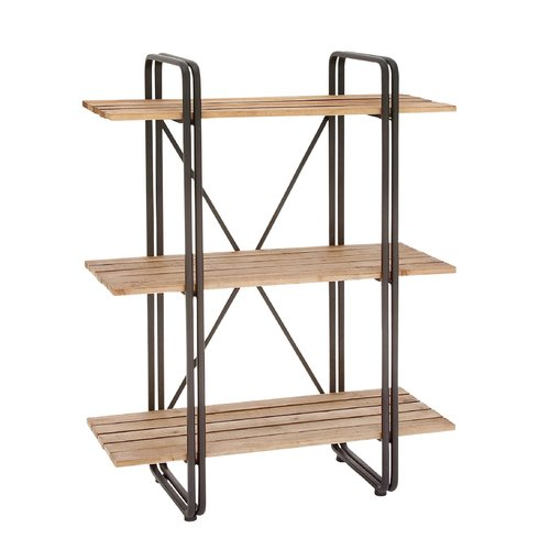 Cole & Grey Metal and Wood 48'' Etagere Bookcase by GwG Outlet