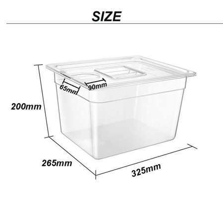 Sous Vide Container Steak Machine Container with 11L Lid Water Tank Bath - image 3 of 7