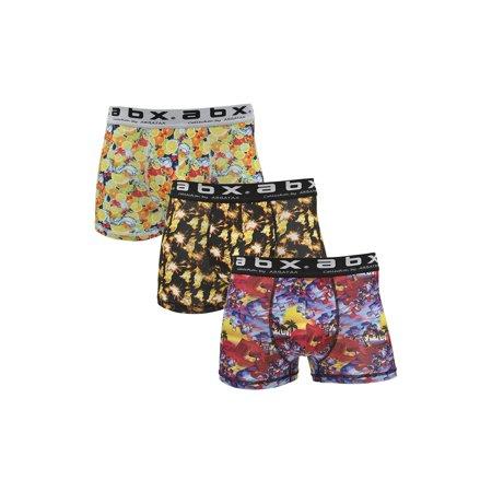 bdba0e0b149 Arbatax - ABX Boxer Briefs for Men (3-Pack) Fun Colorful Shorts, Novelty  Graphics - Walmart.com