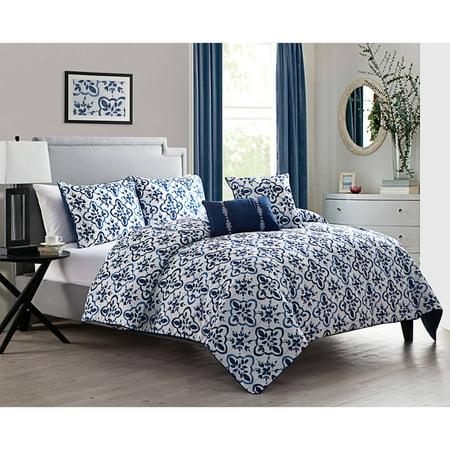 DISCONTINUED VCNY Home Liliana 5-Piece Bedding Comforter Set