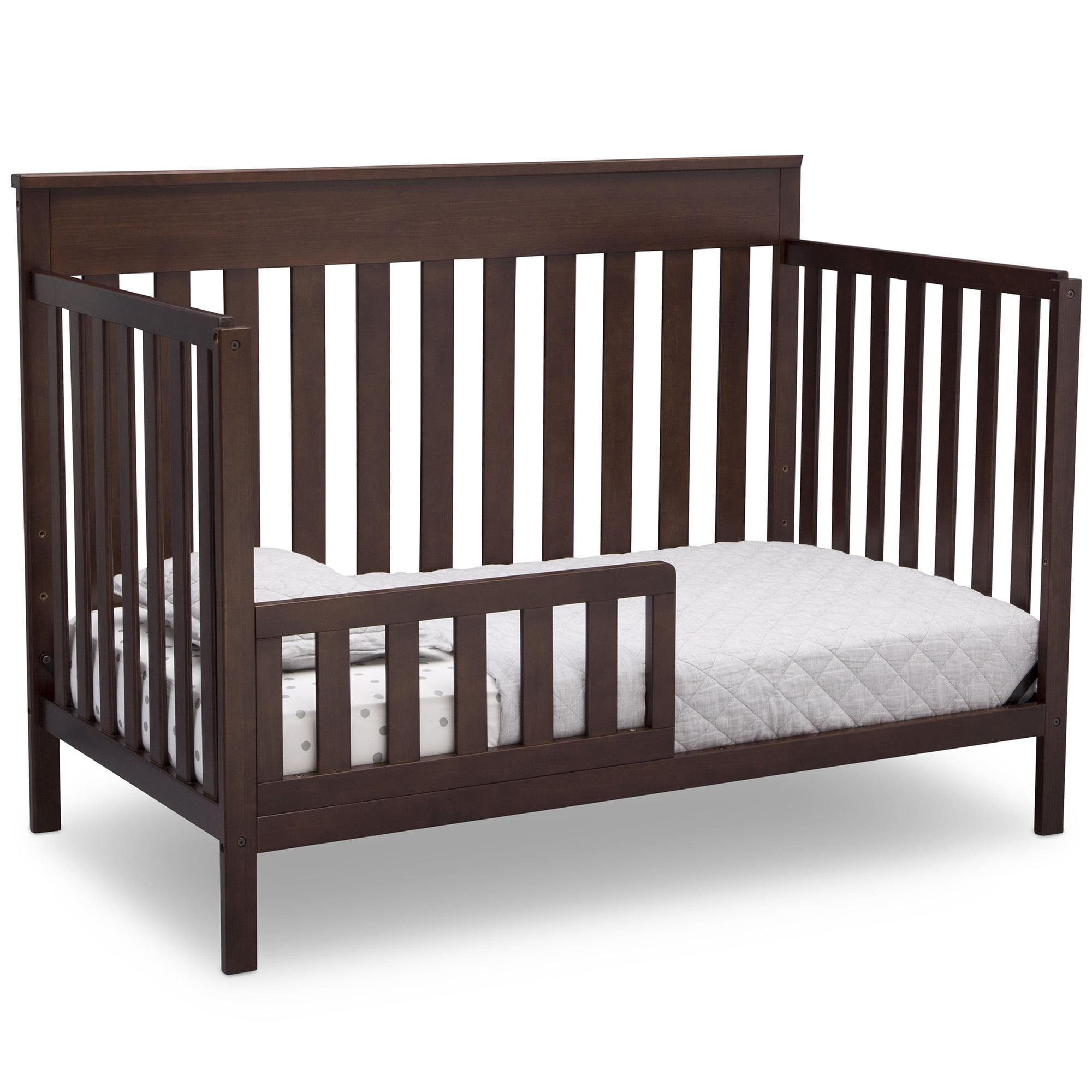 Delta Children Kingswood 4 In 1 Convertible Baby Crib Walnut Espresso Walmart Com Walmart Com