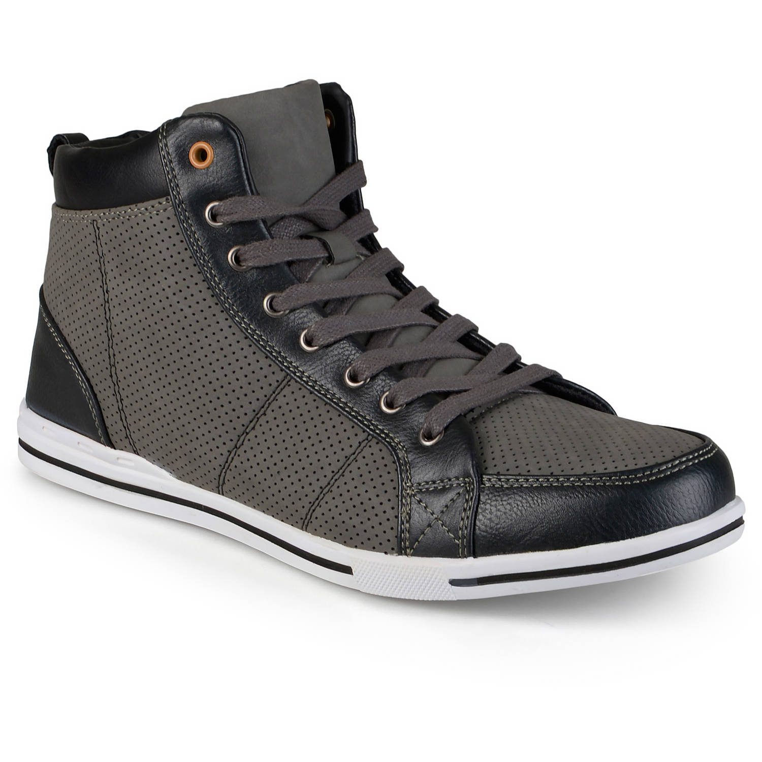 Daxx Mens Casual High Top Lace-up Sneakers