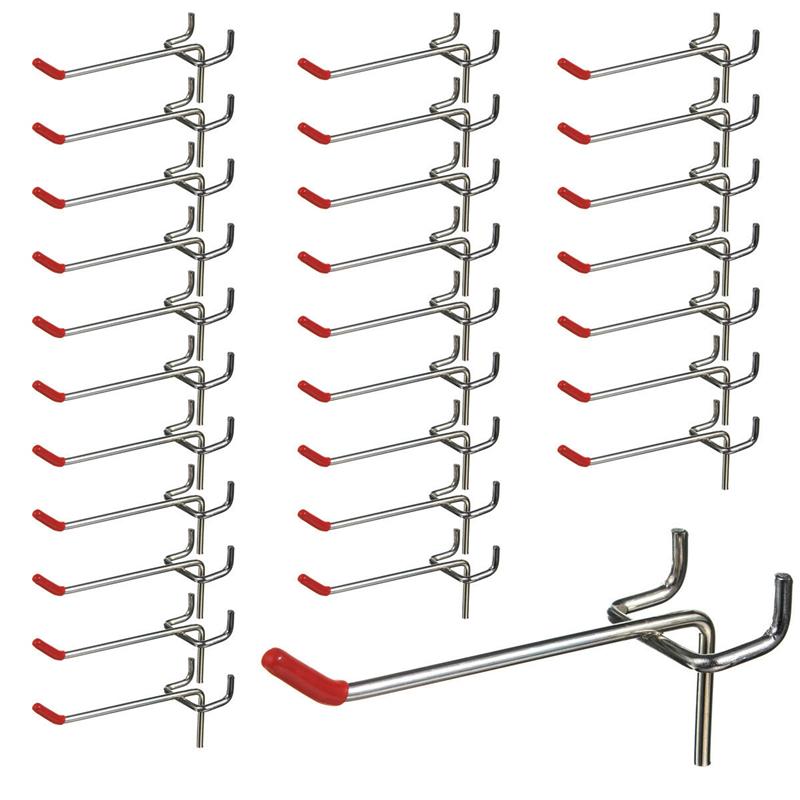 25-Pack Peg Board Hook Organizers Set Pegboard/Shelf Organize Work Shop Wall Retail Display