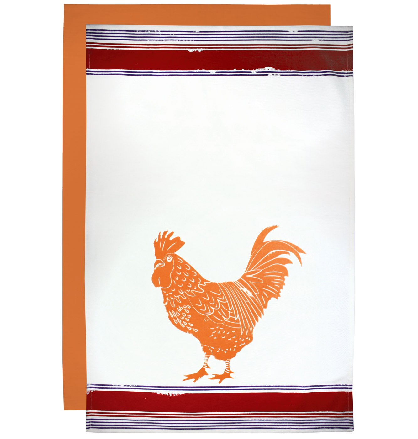 MUkitchen Flour Sack Towel 24 by 36-Inches Set of 2 Rooster
