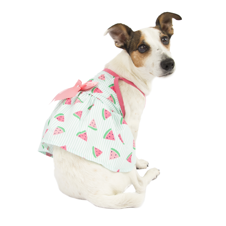 Simplydog Striped Watermelon Strappy Dress, Medium