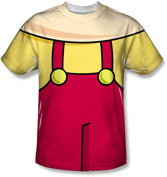 Stewie Griffin Family Guy T-Shirt Costume TV Television Overalls FOX